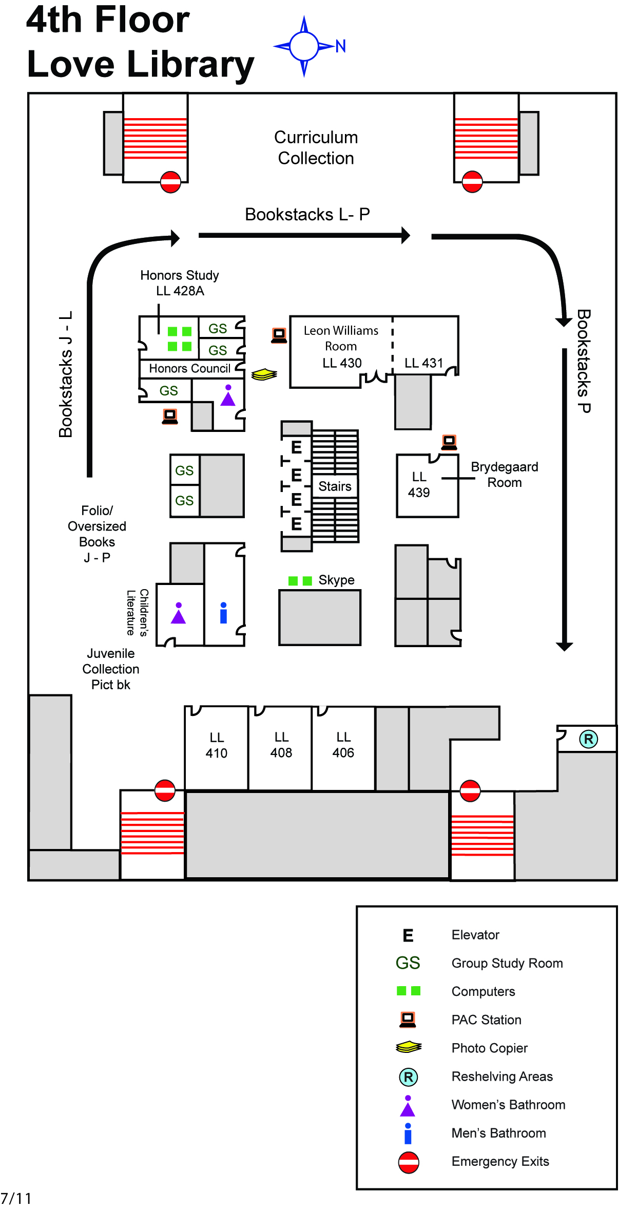 Library faq sdsu library and information access here is a map of the 4 floor fandeluxe Images