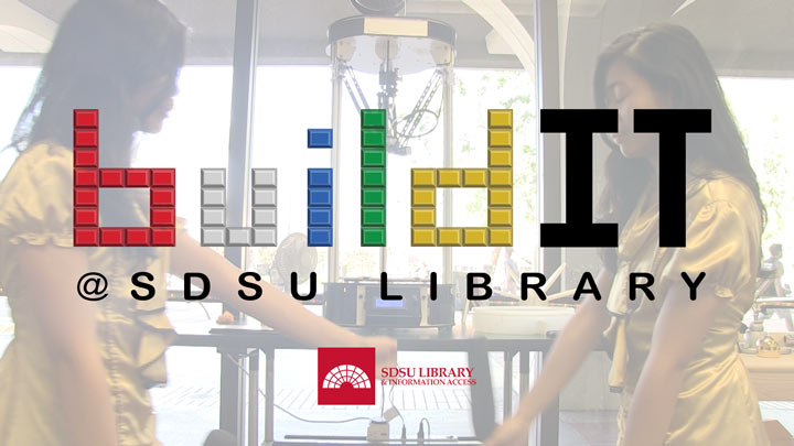 build it logo over makerspace background