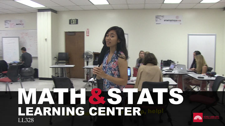math stats learning center with library girl in math center