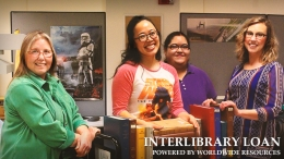 darlene, kim, lorraine, jesica in interlibrary loan