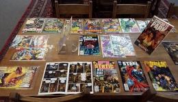 comics on display