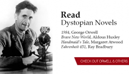 read dystopian novels orwell and others