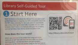 Self guided tour poster