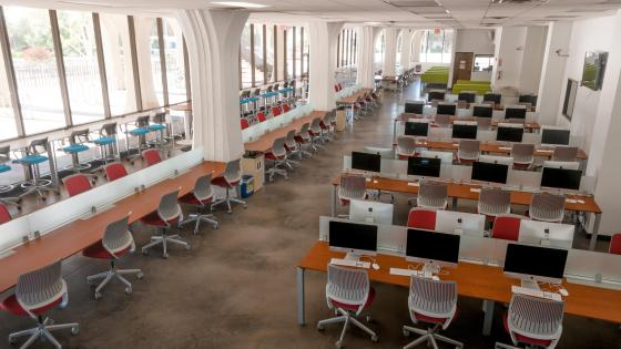 View of Library Computing Hub