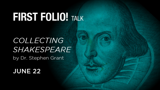 collecting shakespeare book talk stephen grant